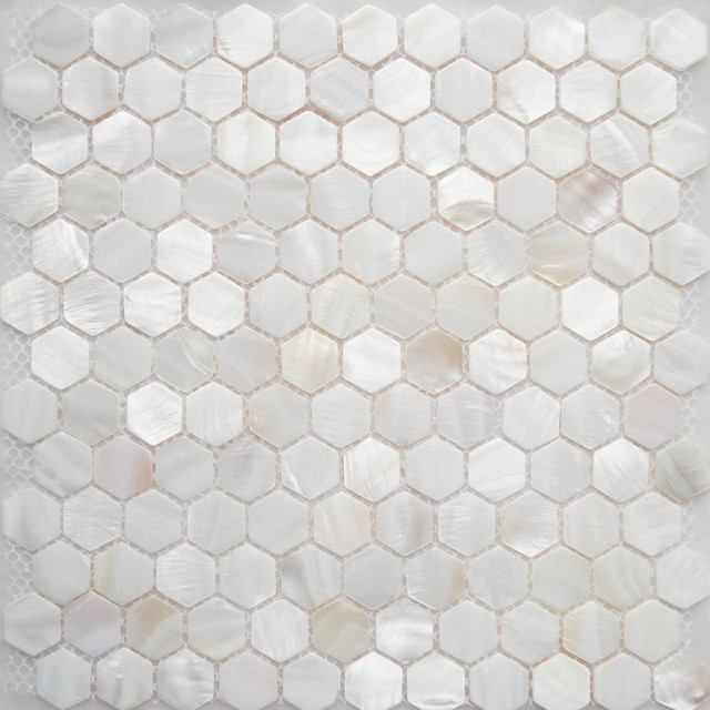 Fifyh Shell Tile White Kitchen Backplash Tile Mother Of