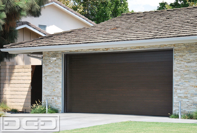 Mid century modern style garage doors garden gates in for Garage door materials