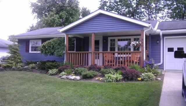 Blue Vinyl Siding Traditional Exterior Other Metro