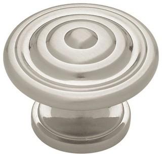 Kitchen Cabinet Hardware - Contempo Bulls Eye Brushed Satin Nickel ...