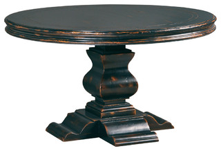 Aspen Round Dining Table Antique Ebony Transitional