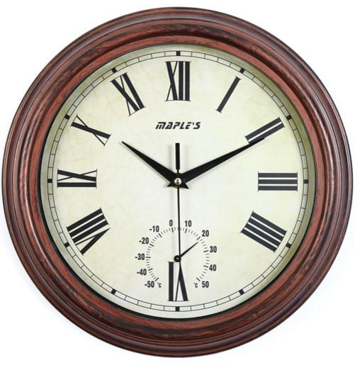 12 Inch Outdoor/Indoor Wall Clock - Modern - Clocks - by Bellacor