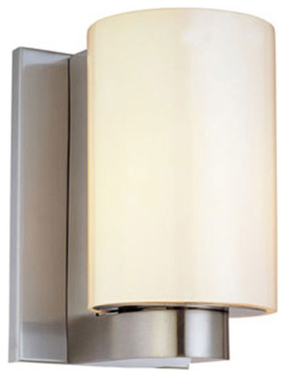 Century short cylinder wall sconce modern wall sconces - Cylindrical wall sconce ...