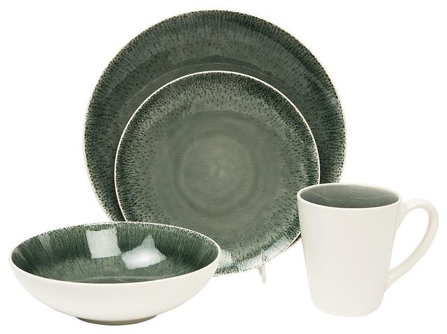 Fused gray 16 piece dinner set modern dinnerware sets by baum essex - Moderne eetkamer set ...