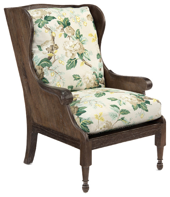 john richard 2058 fabric scandinavian wing chair
