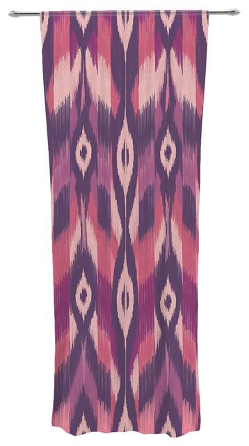 Purple pink ikat decorative sheer curtain panel contemporary curtains