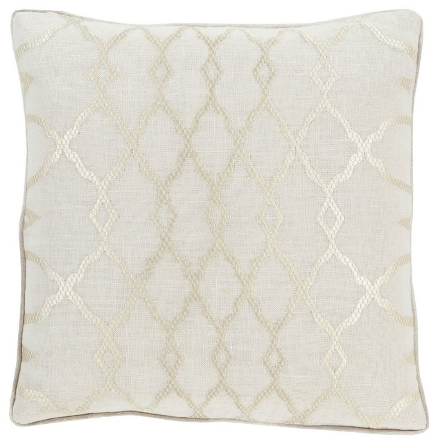 Decorative Pillows Neutral : Contemporary Lydia Square Neutral Decorative Pillow - Contemporary - Decorative Pillows - by RugPal