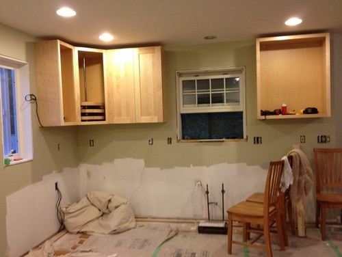 Installing First Cabinets A Few Quirks With Molding