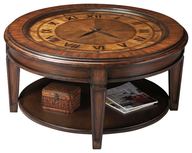 Clock cocktail table traditional coffee tables by butler specialty company Coffee table with clock