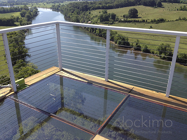 Outdoor floor panels for Garden decking glass panels