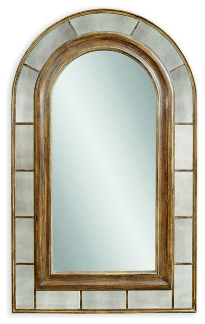 Clark Rustic Bronze Old World Pu Arched Leaner Mirror