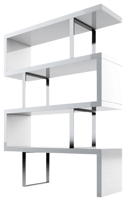 Pearl Bookcase, White Lacquer - Modern - Bookcases - by Inmod