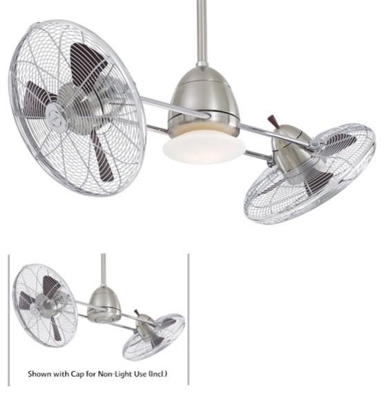 F602-BN-CH Minka Aire F602-BN-CH 42' Gyro Double Ceiling Fan - Modern - Ceiling Fans - los ...