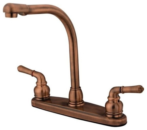 Magellan 8 High Arch Kitchen Faucet Without Sprayer Transitional Kitchen Mixers By
