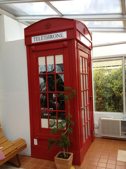 Bathroom london phone booth enclosure eclectic orlando for Bathroom ideas london