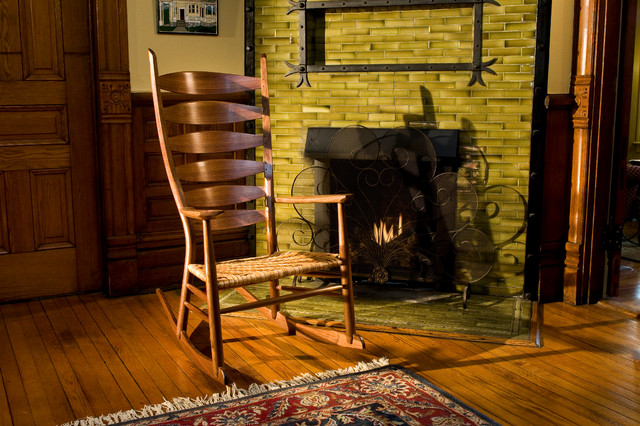 Classic Ladderback Rocker Traditional Furniture By