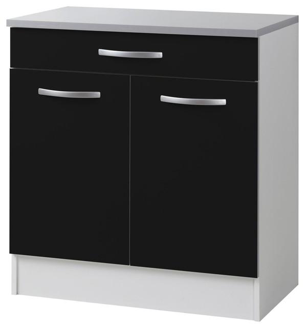 Django meuble de cuisine bas 80cm petite profondeur - Profondeur placard cuisine ...