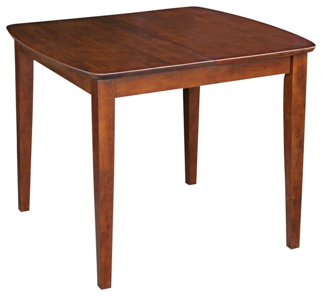 Smithton light espresso extendable dining table for Traditional dining table uk