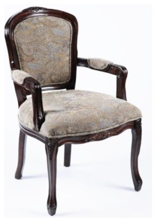 Paisley Arm Chair Traditional Armchairs And Accent