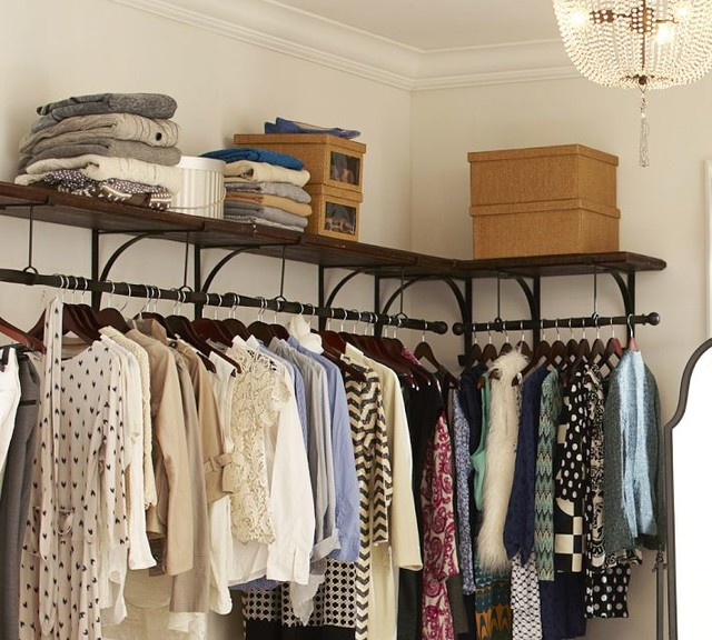 New York Shelf And Clothes Rack Modern Closet Storage By Pottery Barn