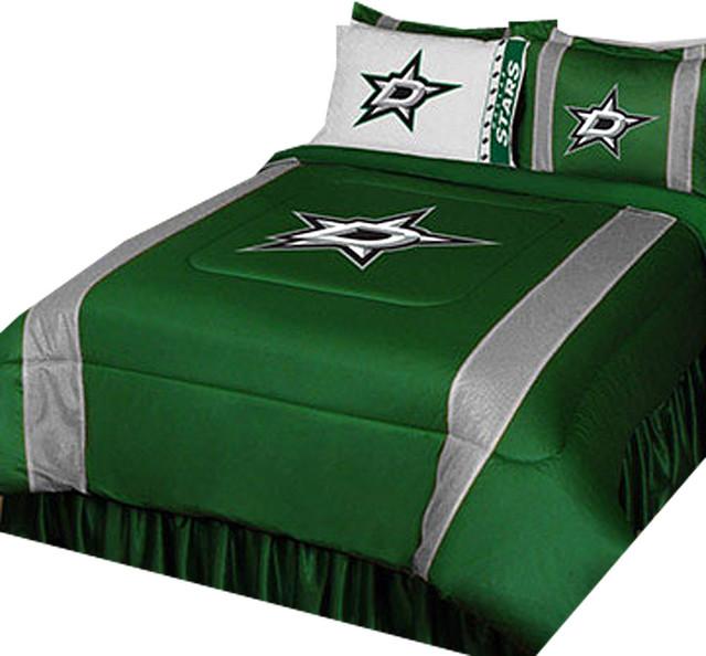 Nhl Dallas Stars Bedroom Set Hockey Logo Bedding Drapery Full Contemporary Bedding By