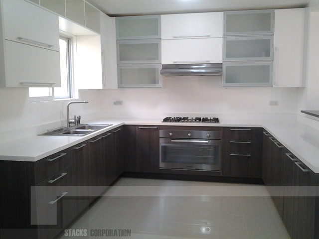 Modular kitchen cabinets in angeles pampanga modern for Prefabricated kitchen cabinets