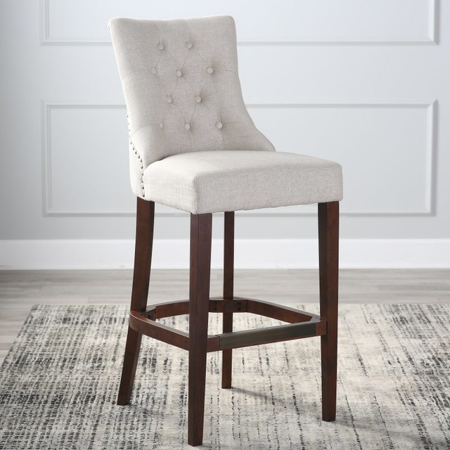 Belham Living Thomas Tufted Tweed Bar Stool Tbd30