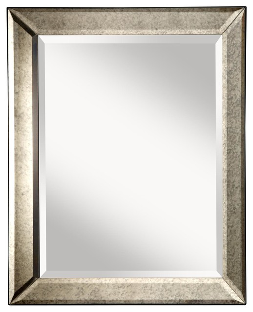 Murray Feiss Mirrors: Murray Feiss Antiqua Wall Mirror, Antique Mirror With