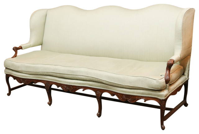 French louis xv style walnut canape midcentury sofas for Louis xv canape sofa