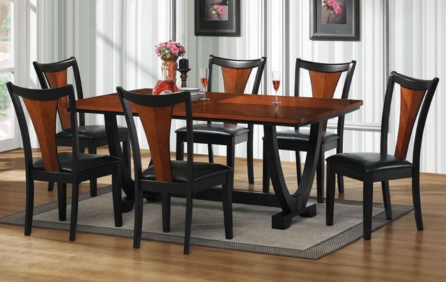 Boraam 21035 6 Piece Bloomington Dining Room Set Black  : contemporary dining sets from ubermed.us size 640 x 406 jpeg 72kB