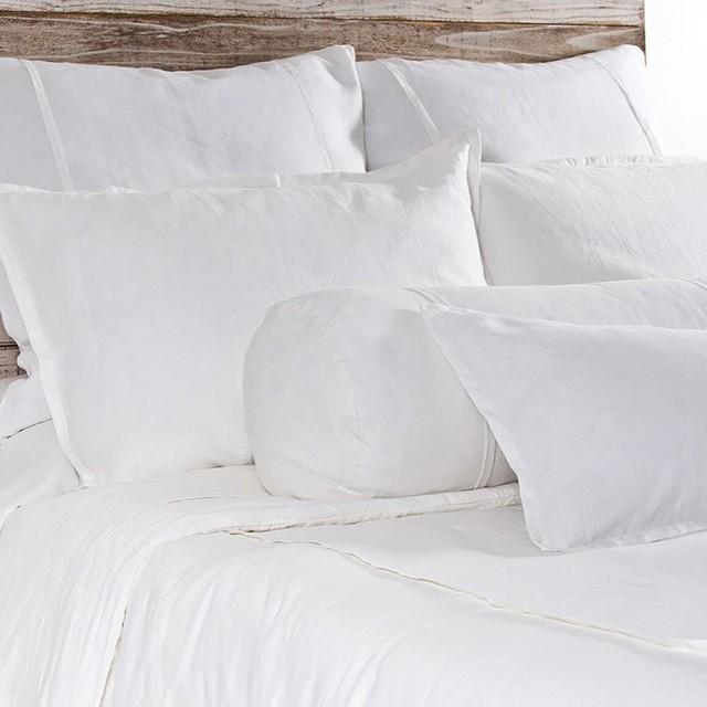 Louwie White Euro Sham Pillowcases And Shams By Pom