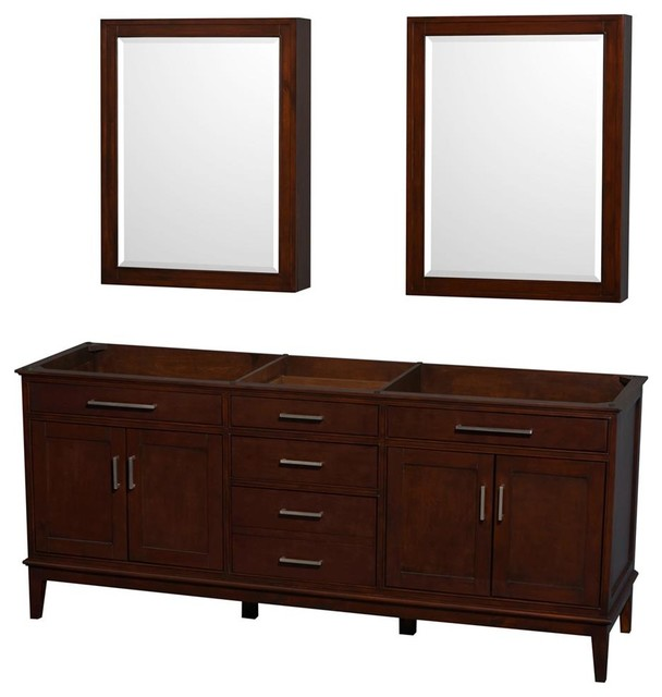 78.5 in. Eco-Friendly Bathroom Vanity with Medicine Cabinets ...