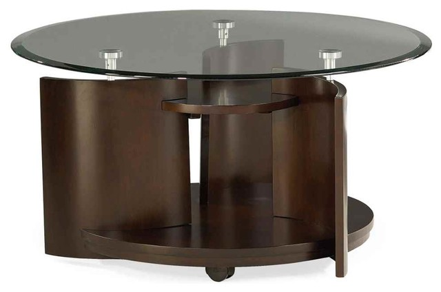 Cocktail Table In Dark Cherry Finish Contemporary Coffee Tables By Shopladder