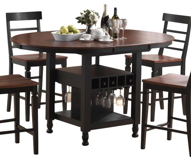 Counter Height Espresso Table : Canterbury Greenwich Counter Height Table in Espresso - Traditional ...