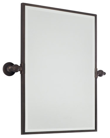 Rectangle Pivoting Bathroom Mirror Traditional