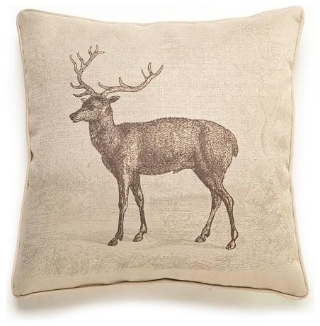 Deer Etching Pillow - Modern - Decorative Pillows