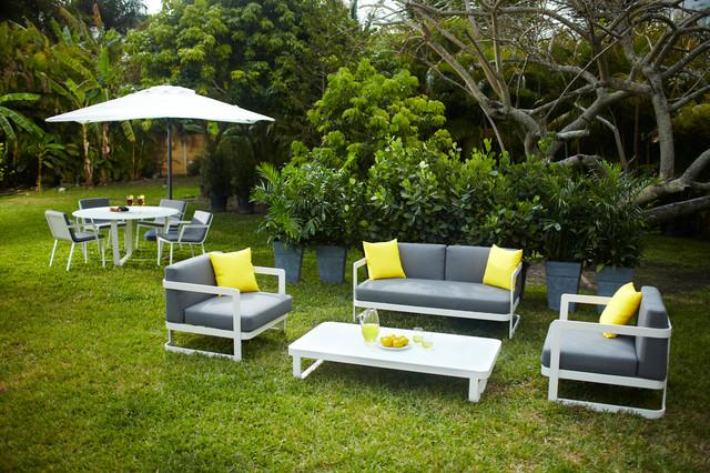 Verona Outdoor Patio Set Tropical Landscape Miami By El Dorado Furniture
