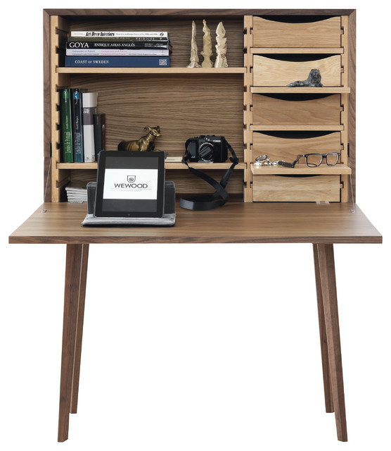 Secr taire mister contemporain meuble bureau et for Bureau secretaire meuble