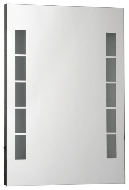 Modern bathroom for two makeup storage
