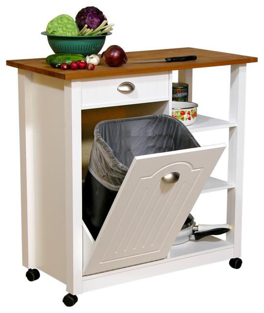 Wide butcher block bin contemporary kitchen islands and kitchen carts