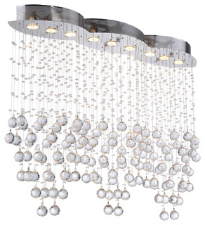 Light Pendant Chandelier Light Chrome Finish With European Crystals