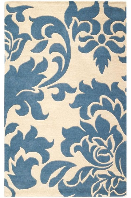 Martha stewart living grand damask area rug traditional for Martha stewart rugs home decorators