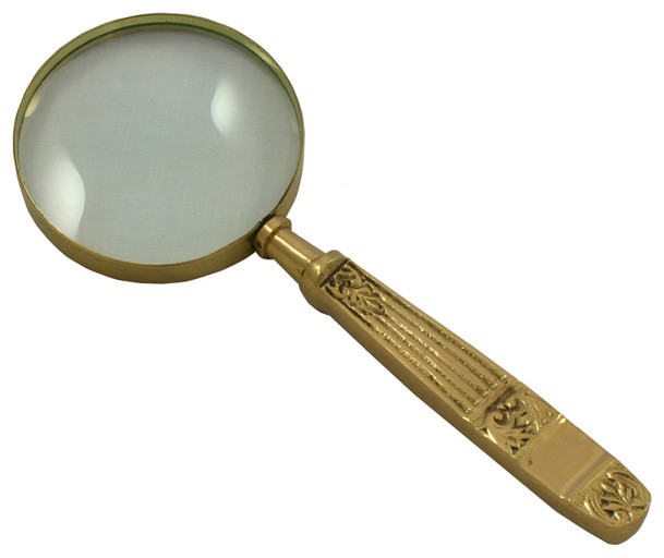 antique reproduction vintage aged brass magnifying glass park hill collection vintage home decor antiques and