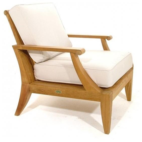 Laguna Teak Lounge Chair Modern Outdoor Lounge Chairs orange county b