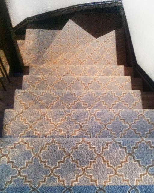 Geometric Stair Runner Ideas Modern Toronto By Maple