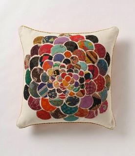 Throw Pillows Luxury : Orimono Flower Pillow - Asian - Decorative Pillows - by Anthropologie