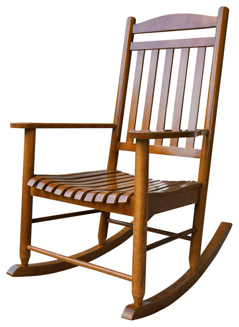 Maine Porch Rocker Oak Outdoor Rocking Chairs by