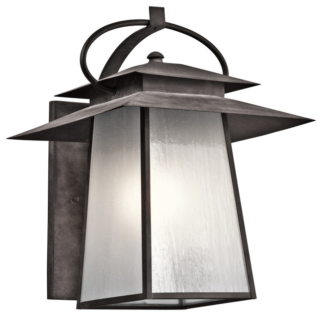 Kichler Lighting WZC Woodland Lake Weathered Zinc Outdoor Wall Sconce