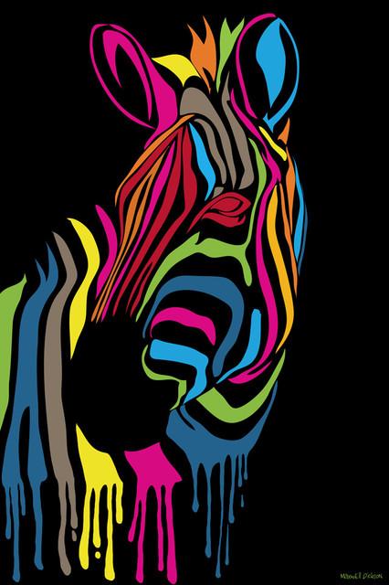 Maxwell Dickson Quot Zebra Stripes Quot Pop Canvas Print Art