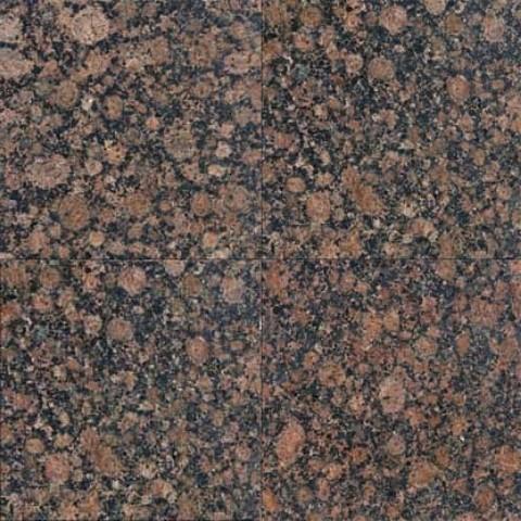 Sample Of 12x12 Polished Baltic Brown Granite Tile